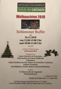 Weihnachts Schlemmerbuffet