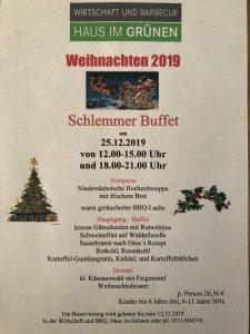 Weihnachtsschlemmerbuffet 2019